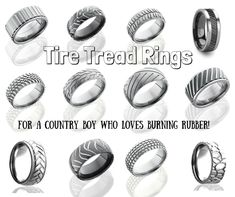 Check these rings out if you love a kick-ass, tire burning, speed lovin' country boy!