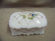 Electronics, Cars, Fashion, Collectibles, Coupons and Glass Trinket Box, Trinket Boxes, Vintage Gifts, Milk Glass, Baby Items, Hand Painted, Gift Ideas, Ebay, Decor