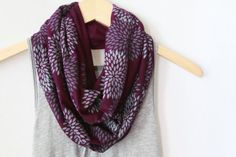 INFINITY SCARF  Screen Printed  Gray by littleminnowdesigns, $30.00  @Sarah James These scarves are to die for.