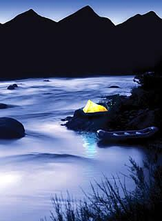 Camping by the river with Echo Canyon River Expeditions, Colorado