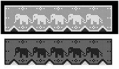 Crochet Lace Edging, Crochet Borders, Crochet Stitches Patterns, Thread Crochet, Crochet Trim, Love Crochet, Crochet Baby, Knit Crochet, Filet Crochet Charts