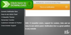 [ThemeForest]Free nulled download Notification Bar for Wordpress from http://zippyfile.download/f.php?id=49977 Tags: ecommerce, advertise, bar, css3, jquery, notification, php, plugin, wordpress