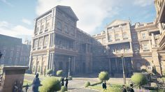 "Level Artist on ""Assassin's Creed Syndicate"" One, PC) Creating several landmarks and Level Art of the Whitehall district in London Downing Street - Horse Guards - Foreign Office - Montagu House -Richmond Terrace etc. Rome Buildings, Game Level Design, Anime Places, Fantasy House, Good Environment, Unreal Engine, Medieval Town, Assassin's Creed, Environmental Art"