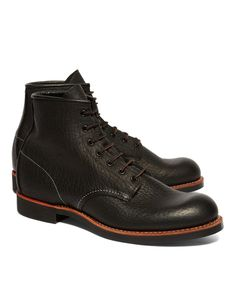 Red Wing Black Bison Leather boot for Brooks Brothers.