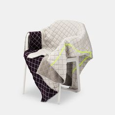 soft grid blankets by established and sons