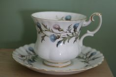 Royal Albert Brigadoon Tea Cup and Saucer by JaneAustenInspired