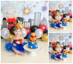 Harper turns {One} Wonder Woman style in studio with custom smash cake! – Scranton, Pennsylvania premiere baby photographer | Dolci Momenti Photography