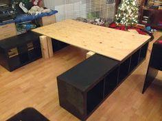IKEA hack king bed
