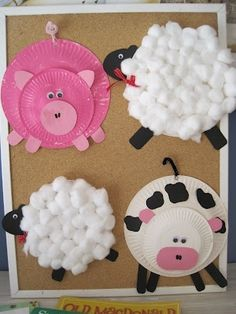 Paper Plate Farm animals--- So fun to do with kids! by marjorie