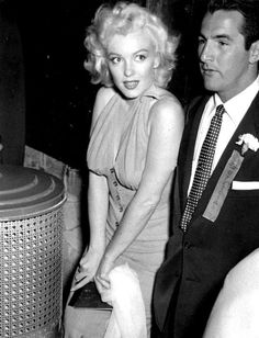 """Marilyn Monroe at the ""Out of This World Series"" baseball game, 1952. """