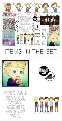 """""""One Direction<3"""" by kennedey-lynn-freeman ❤ liked on Polyvore featuring art"""