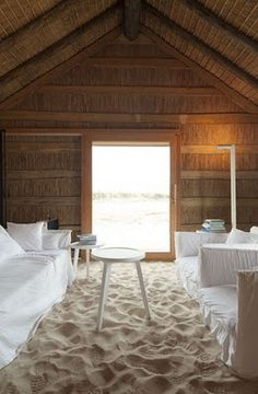 Beach Hut sand floor!