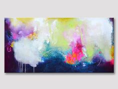 Original abstract painting on a textured stretched by ARTbyKirsten