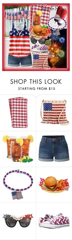 """""""Happy 4th of July!! """" by fashionistajane1 ❤ liked on Polyvore featuring Pier 1 Imports, TWIG & ARROW, LE3NO, Old Navy, Anna-Karin Karlsson, Converse and Carolee"""