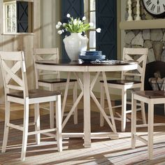 Ellinger Counter-height Round Dining Table | Overstock™ Shopping - Great Deals on Coaster Dining Tables