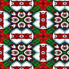 wycinanka_peacock_seamless_print_flat_008 fabric by stradling_designs on Spoonflower - custom fabric