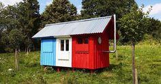 Pin-up domček France od českého architekta Joshua Woodsman - Vojtěch Valda. Domček, ktorý postavia traja ľudia za tri hodiny. Bývanie