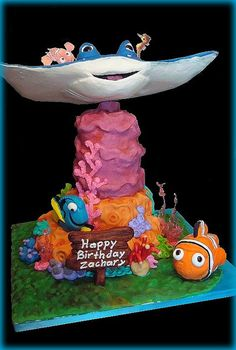 Finding Nemo Cake by Almost Anything Cakes, via Flickr