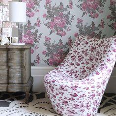 rose print interiors