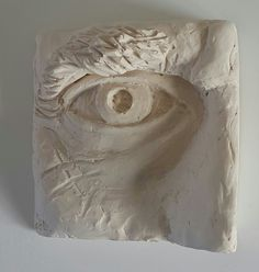 Rudolf Bitzer: Eye study of an elderly man. Original in plasticine clay then casted with a waterbased resin 115 x mm Plasticine Clay, Eye Study, Ap Studio Art, Elderly Man, Small Sculptures, Art Studios, Resin, Candle Holders, It Cast