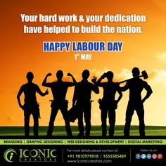 Let's Celebrate the labour that build up this great land from field to field desk to desk they built it hand in hand. Happy Labour Day..