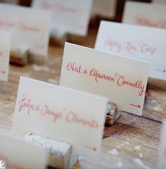 #wedding #table #escort card #marque place #Cork escort card holders