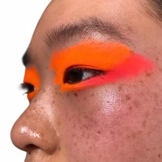 "4,603 Likes, 23 Comments - BEA SWEET, Makeup artist (@beasweetbeauty) on Instagram: ""Two shades of neon powdered orange eyes and pink tinted shimmer cheeks makeup by me as part of my…"""