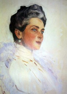 watercolor of Princess Zenaida Youssoupoff by Alexander Serov.