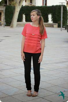 SALME sewing patttern - loose pleated shirt