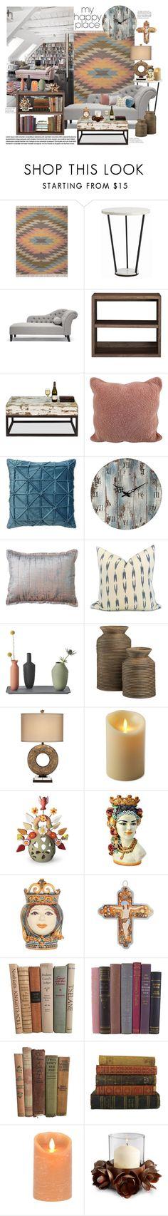 """""""Happy Place"""" by mmk2k ❤ liked on Polyvore featuring interior, interiors, interior design, home, home decor, interior decorating, Crate and Barrel, Dot & Bo, Lush Décor and Universal Lighting and Decor"""