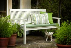 Hartman Calypso 3 Seat Bench with Cushion Link: http://www.hayesgardenworld.co.uk/product/hartman-calypso-3-seat-bench-cushion