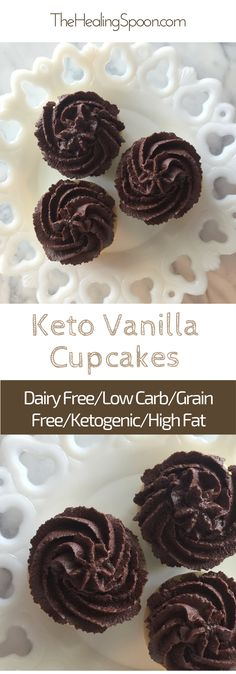 #keto #lowcarb paleo cupcakes with chocolate ganache frosting