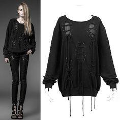 Alternative Black Steam Punk Gothic Emo Clothing Sweat Shirt Jackets SKU-11401500