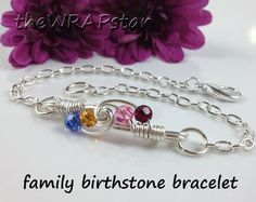 Gift for Mom Family Jewelry Wire Wrapped Jewelry by theWRAPstar