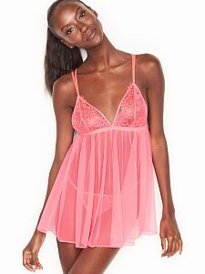 5666d67009 Chantilly Lace   Mesh Babydoll Chantilly Lace