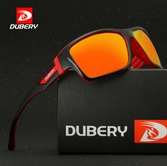 fbb02cc0944b 4.59AUD - Dubery Men s Polarized Driving Sunglasses Outdoor Sports Riding  Colorful Glasses  ebay