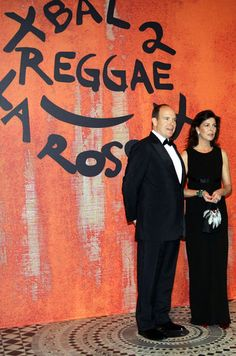 La princesse Caroline de Monaco aux bals de la Rose en 2006 avec le prince Albert II