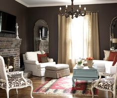 New Home Interior Design: Cozy Family Rooms & Living Rooms-brown, white, cream, blue