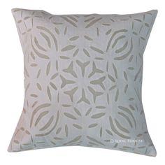 Indian cutwork cushion