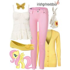 """Fluttershy"" by irishgrlnextdoor on Polyvore #mylittlepony #mlp #fashion outfit inspiration."