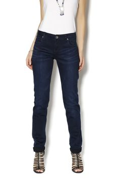 High rise dark classic 5 pocket skinny jean with stretch. A great everyday denim. Dianna Skinny Jeans by Kut from the Kloth. Clothing - Bottoms - Jeans & Denim Massachusetts