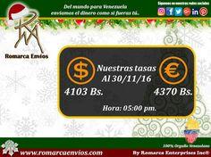 #TasaDeCambio 05:00pm #RomarcaEnvios #EnvioDeDinero #VenezolanosEnElExterior