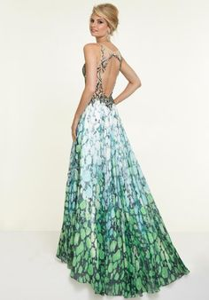 2015 Mori Lee Print Skirt Prom Dress 97077