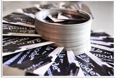 Use A Slinky As A Business Card Holder I may have pinned this already but this would look cool on the table