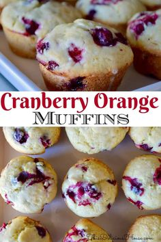 Cranberry Orange Muffins using fresh cranberries and oranges. Great way to use up leftover cranberries. #cranberrymuffins #cranberryorangemuffins Fresh Cranberry Recipes, Cranberry Orange Muffins, Cranberry Cookies, Cake Recipes For Kids, Baking Recipes, Cookie Recipes, Dessert Recipes, Breakfast Recipes, Breakfast Muffins