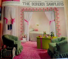 I copied this from a seventeen magazine for my own bedroom as a Teen