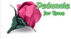 Origami Peduncle  for Kawasaki Rose - Yakomoga Origami tutorial   *****