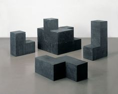 Damián Ortega Concrete cube (black), 2003 Cast concrete with black pigment Concrete Art, Concrete Design, Contemporary Sculpture, Contemporary Art, Damian Ortega, Cube Design, Through The Looking Glass, Vintage Colors, Installation Art