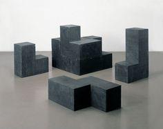 Damián Ortega Concrete cube (black), 2003 Cast concrete with black pigment Concrete Art, Concrete Design, Contemporary Sculpture, Contemporary Art, Damian Ortega, Black Pigment, Through The Looking Glass, Vintage Colors, Installation Art