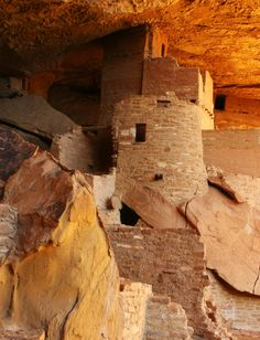 The Ancestral Puebloans inhabited Mesa Verde for more than 700 years (550 A.D. to 1300 A.D.), but for the first six centuries, they primarily lived on the mesa tops.  It was not until the final 75 to 100 years that they constructed and lived in the cliff dwellings for which Mesa Verde is known.
